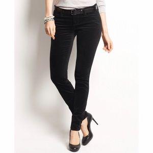 Ann Taylor LOFT Black Velvet Modern Skinny pants
